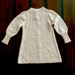 Long sleeve pink sweater dress 2T old navy~